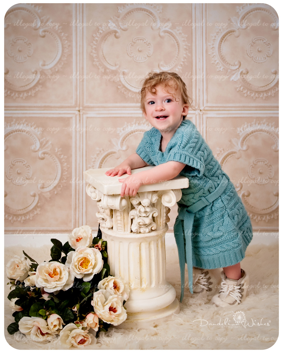 Premier photographer for artistic First Birthday baby pictures near Burke, Virginia in the Northern VA metro area.