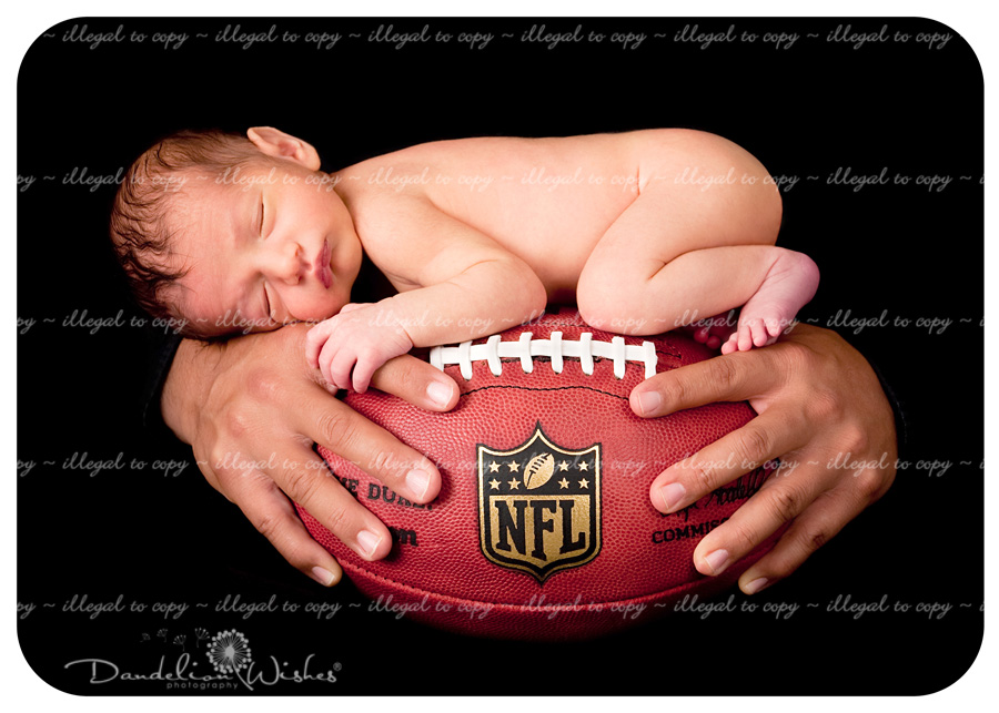 Awesome dad &amp; baby photos, football photo for dad who works with Washington Redskins football players &amp; team. 