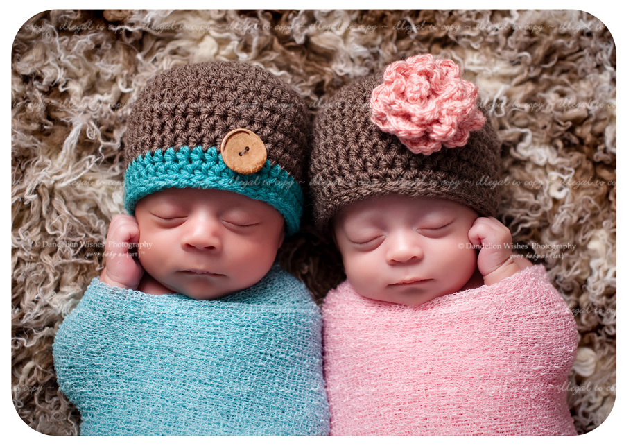 Newborn baby pictures of twins near Charlottesville, VA.
