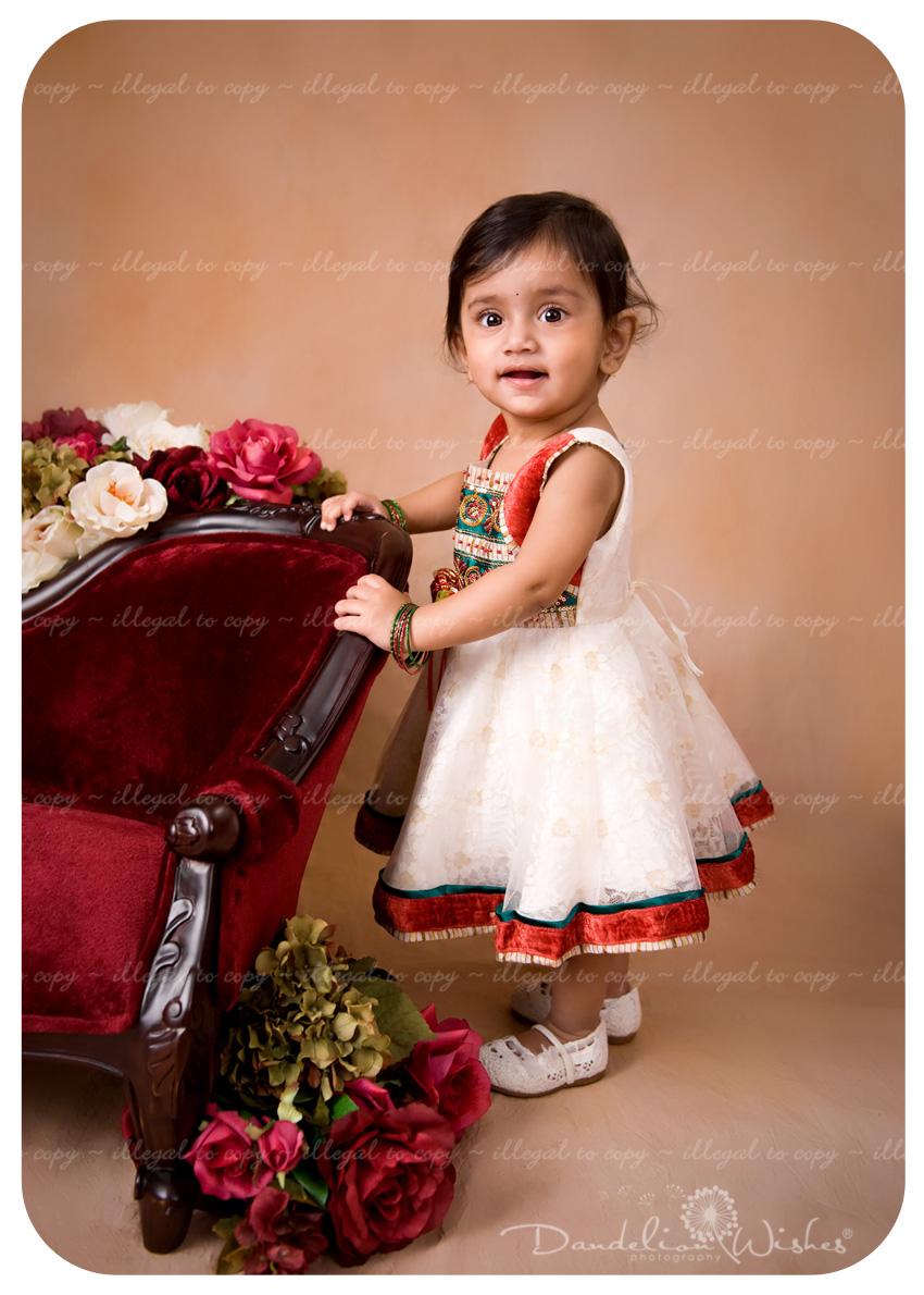 First birthday portraits convenient to Rockville, Maryland.