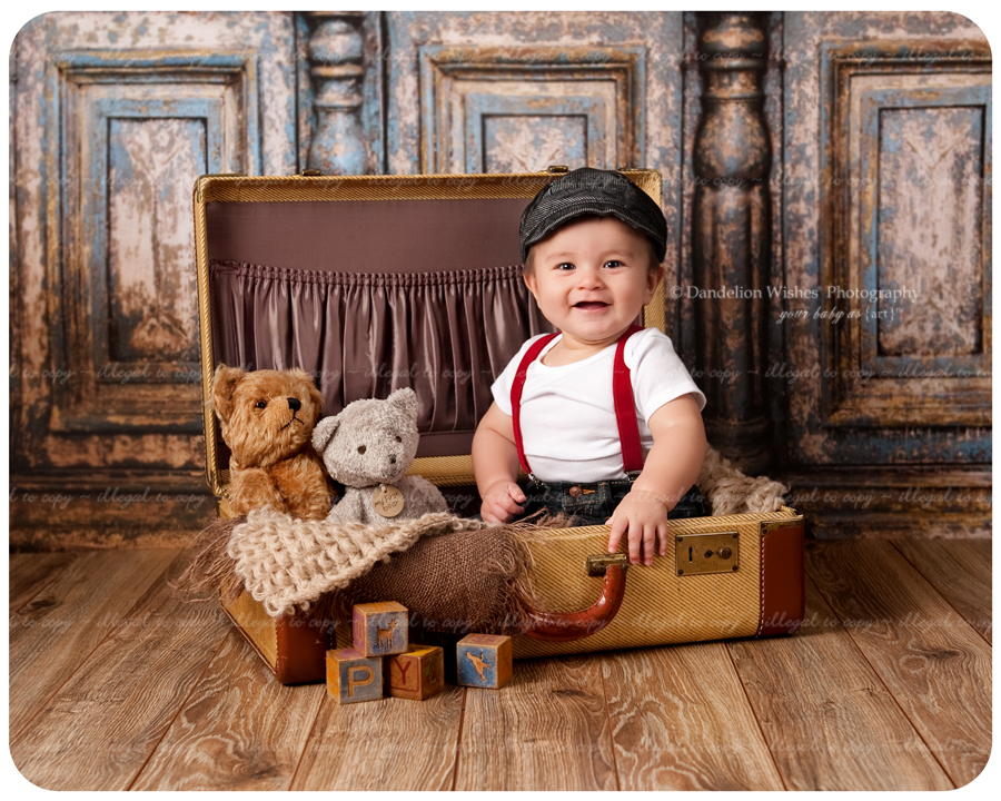 Artistic 6 month baby photos near Ashburn & Brambleton, Virginia.