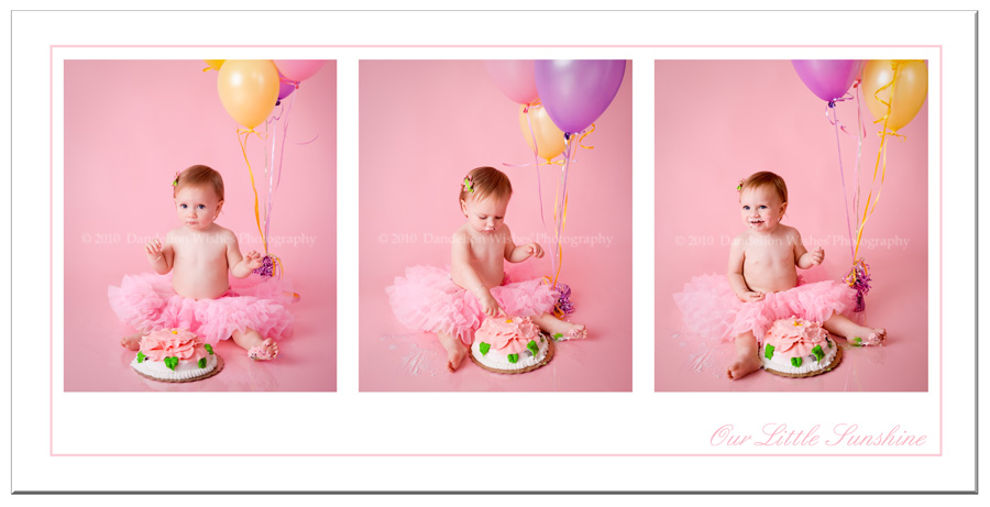 Fun, creative 1st Birthday Smash-The-Cake pictures!